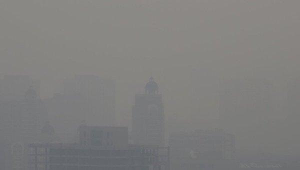 Сильный смог. Архивное фото