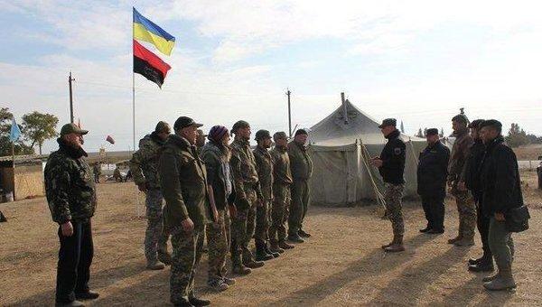 Блокада Крыма. Бойцы Правого сектора
