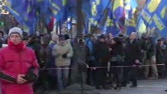 Митинги под Верховной Радой и флаг США