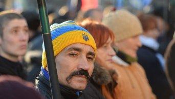 Акция протеста в Украине. Архивное фото