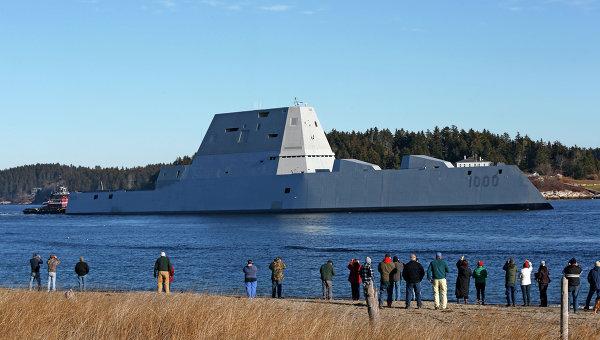 Самый новый  эсминец ВМС США может остаться без снарядов