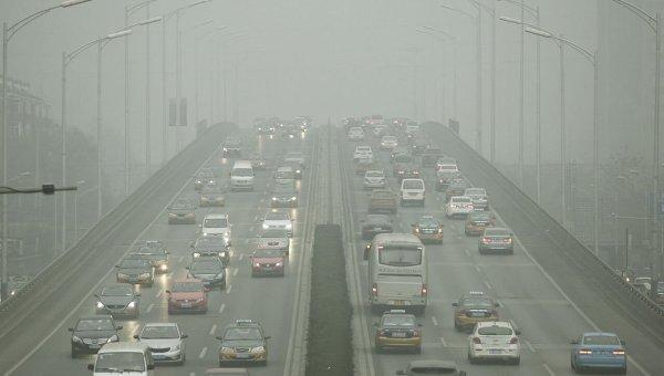 Сильный смог в Пекине