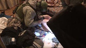 На месте задержания диверсантов в Киеве