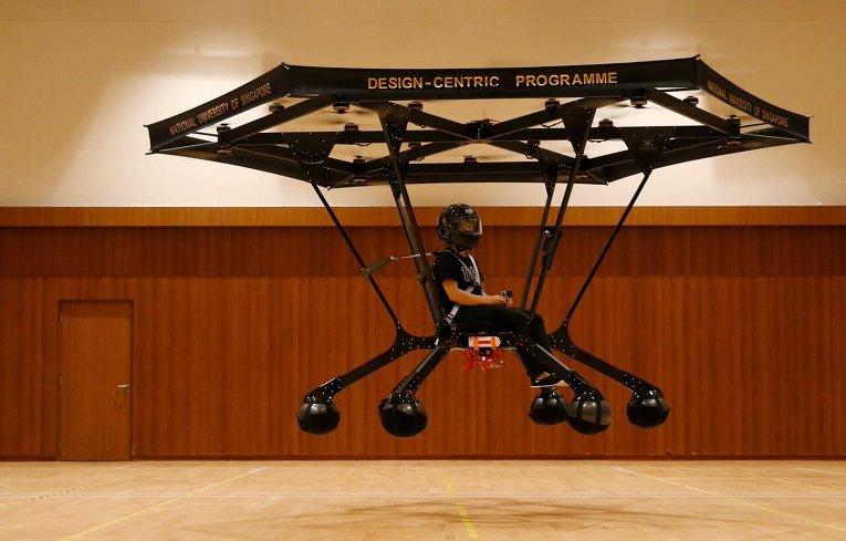 Персональный летательный аппарат, изготовленный студентом из Сингапура.