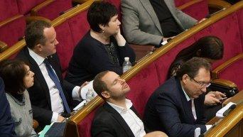 Народные депутаты в Верховной Раде. Архивное фото