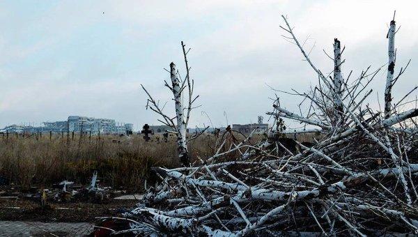 Разрушения в Донецкой области в ходе АТО. Архивное фото