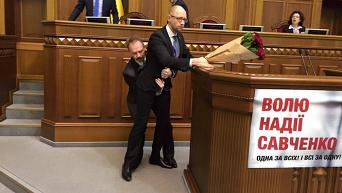 Олег Барна и Арсений Яценюк в Верховной Раде 11 декабря 2015 года