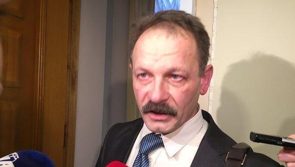 Олег Барна после драки в Верховной Раде