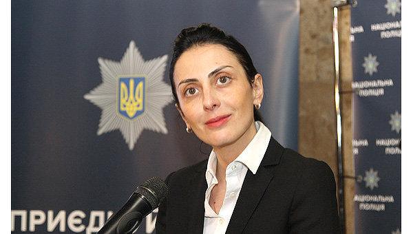 Глава Нацполиции Хатия Деканоидзе.