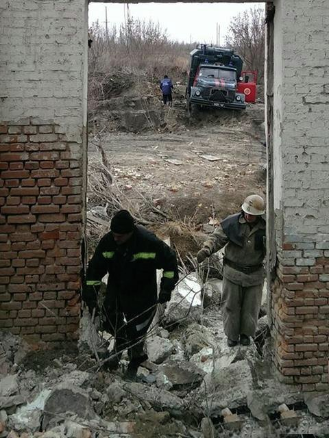 Обрушение здания в Николаевской области