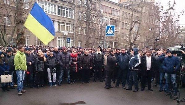 Митинг силовиков под МВД в Киеве