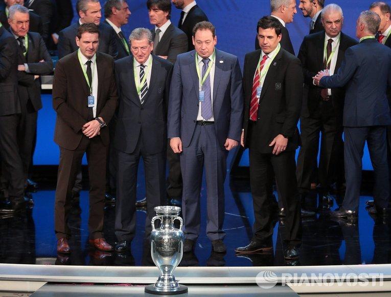 Футбол. Церемония жеребьевки чемпионата Европы 2016