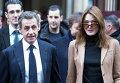 Второй тур региональных выборов во Франции. Николя Саркози и Карла Бруни