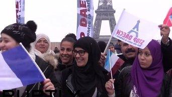 Антитеррористический митинг в Париже