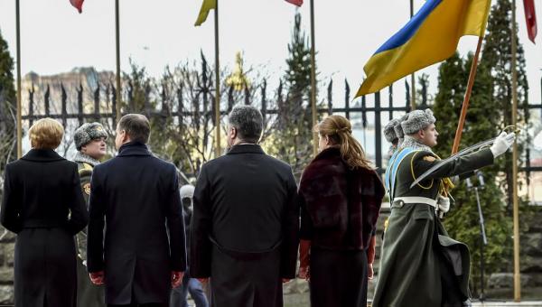 Петр Порошенко и президент Польши Анджей Дуда с супругами в Киеве