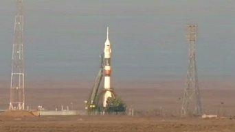 Запуск корабля Союз с новым экипажем МКС
