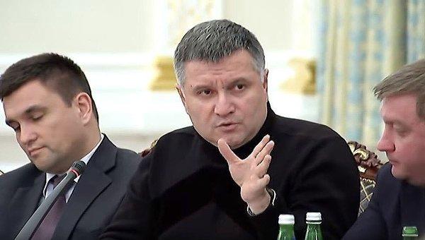Аваков на заседании Нацсовета реформ во время ссоры с Саакашвили