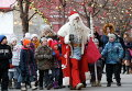 Дед Мороз в центре Москвы