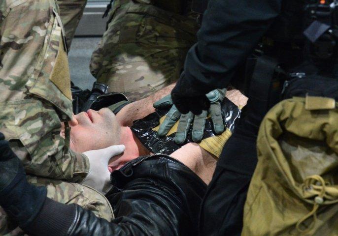 Антитеррористические учения полиции в метро Варшавы