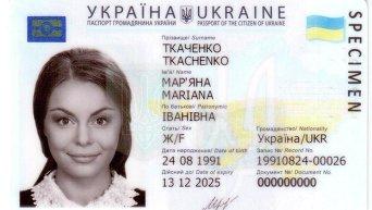 Образец электронного паспорта