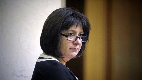 Наталия Яресько во время внеочередного заседания Верховной Рады 17 декабря 2015 года