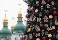Подготовка к открытию главной елки страны в Киеве