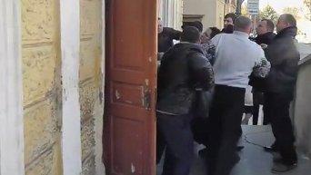 Драка после сессии городского совета в Стрые Львовской области