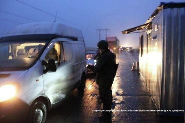 Блокпосты на границе в Донбассе