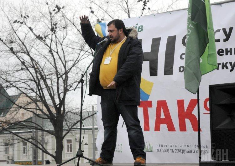 Протест против изменений в Налоговом кодексе в Харькове