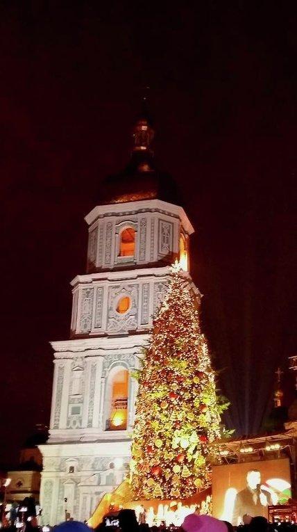 В Киеве зажглась главная елка страны