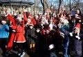 Международный рождественский забег Санта Клаусов в Одессе