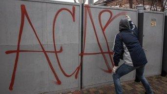 Протесты в Краснокутске под Харьковом против действий правоохранителей
