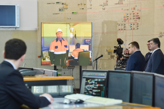 """Порошенко дал старт работе ЛЭП «РАЭС— подстанция """"Киевская""""»"""