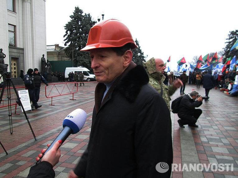 Лидер Независимого профсоюза горняков Украины Михаил Волынец