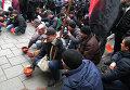 Акция шахтеров под Верховной Радой Украины