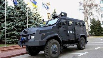 Бронеавтомобиль Варта-2, скриншот из Facebook министра внутренних дел Украины Арсена Авакова.