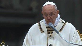 Рождественская месса в соборе Святого Петра в Ватикане. Видео