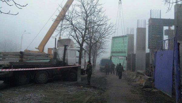 На месте скандальной стройки в Киеве на Борщаговке, где произошла массовая драка