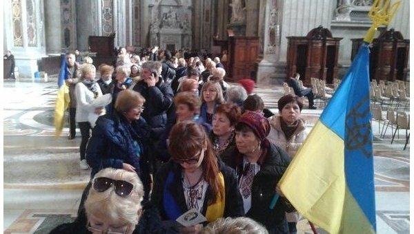 Паломничество украинцев в Ватикан