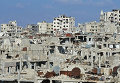 Разрушения в городе Хомс