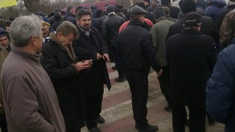 Акция протеста аграриев в Запорожской области