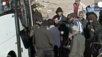 Эвакуация в Сирии. Видео