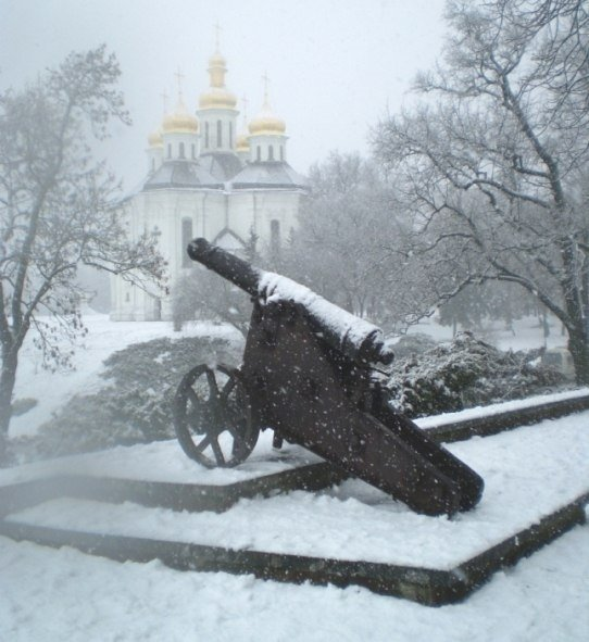 Снегопад в Чернигове