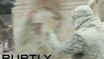 Мучные бои в Испании Видео