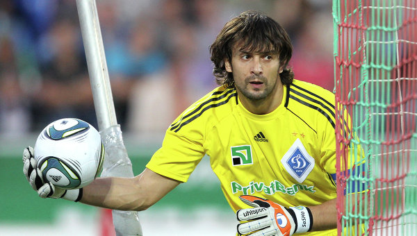 Вратарь Динамо (Киев) Александр Шовковский