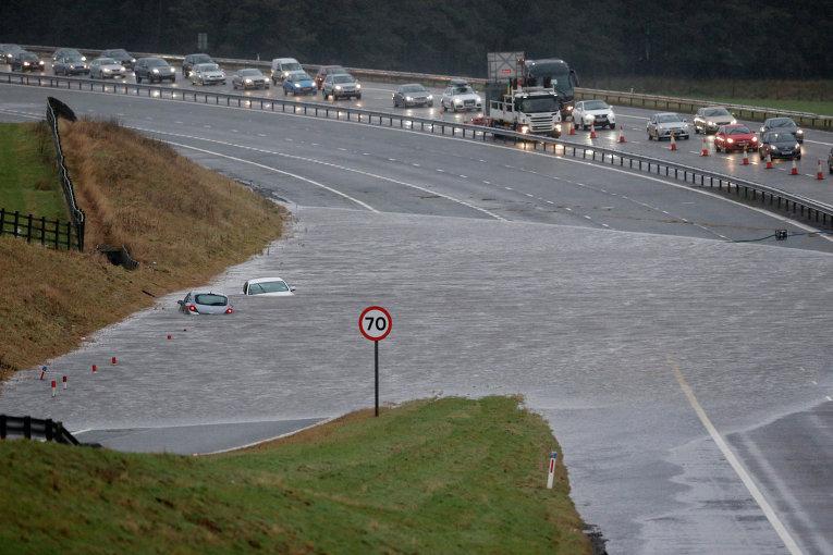 Последствия наводнения в Шотландии