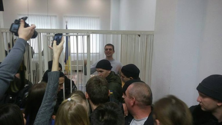 Андрей Медведько после заседания суда, на котором было решено отпустить его из-под стражи