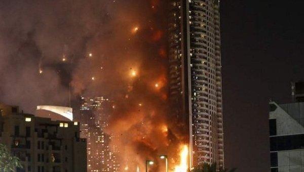 Пожар в отеле-небоскребе Address Downtownв Дубае