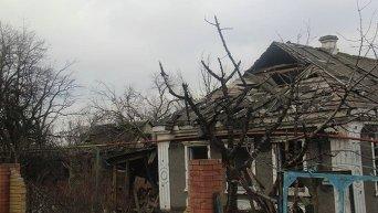 Разрушения в поселке Опытное
