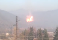 Разгерметизация газопровода с самовоспламенением газового факела в Закарпатской области